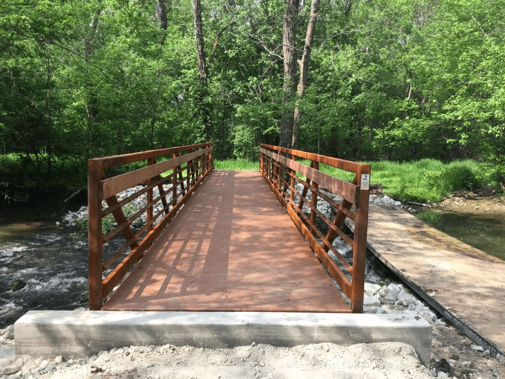Trail Bridge Over Stream