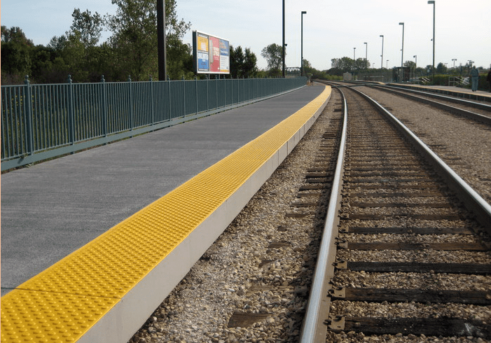 Rail Platform Along the Tracks