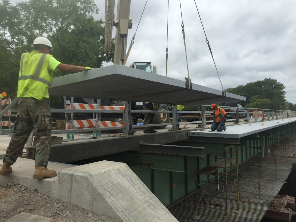 Cantilever Sidewalk Final Panel Placement