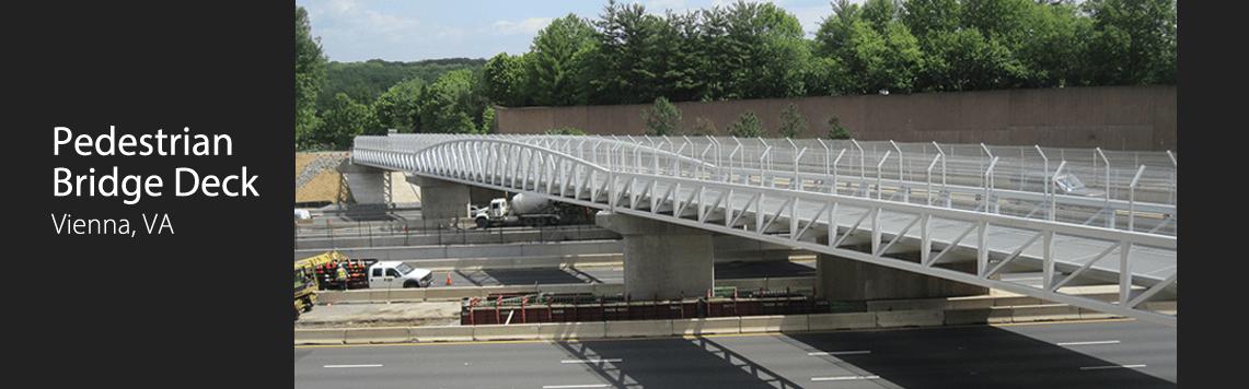 Pedestrian Bridge Deck, Vienna, VA